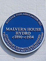 Photo of Malvern House Hydro blue plaque