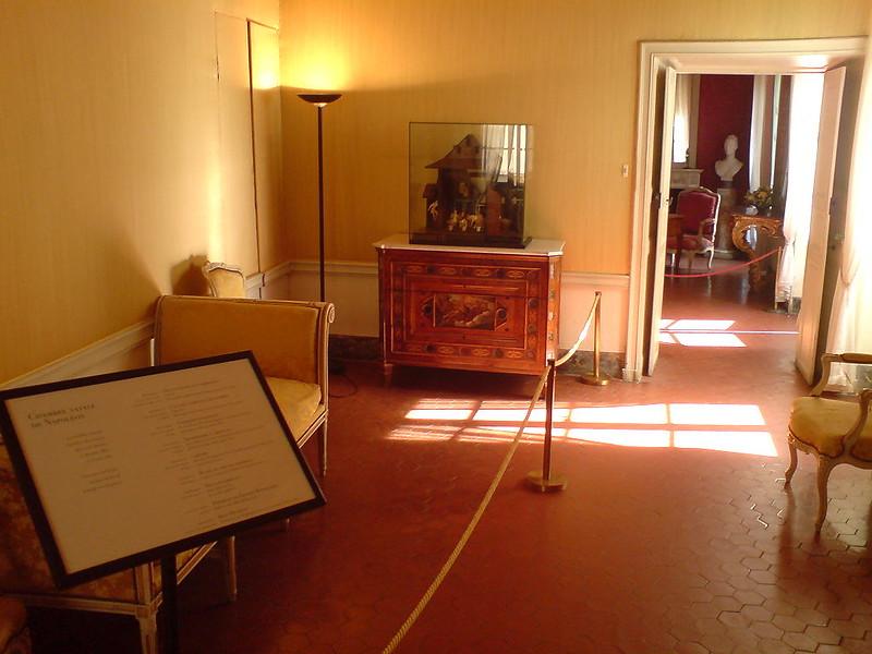 The room where Napoleon Bonaparte was born