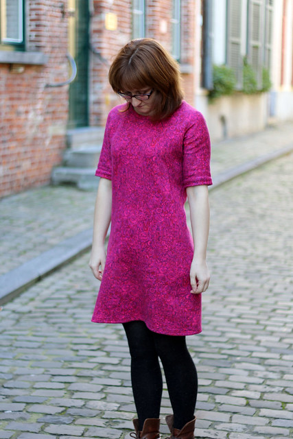 Linden Sweatshirt Dress in Liberty Fleece