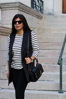long black vest, striped shirt, white mules, black pants-4.jpg