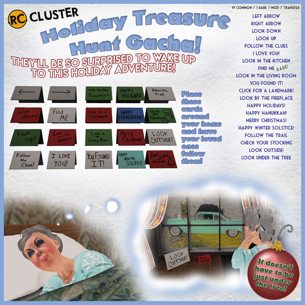 -RC- Holiday Treasure Hunt Gacha - SecondLifeHub.com