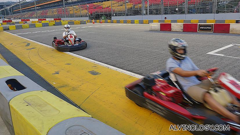 Round and round the track