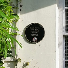 Photo of Harold Harvey black plaque
