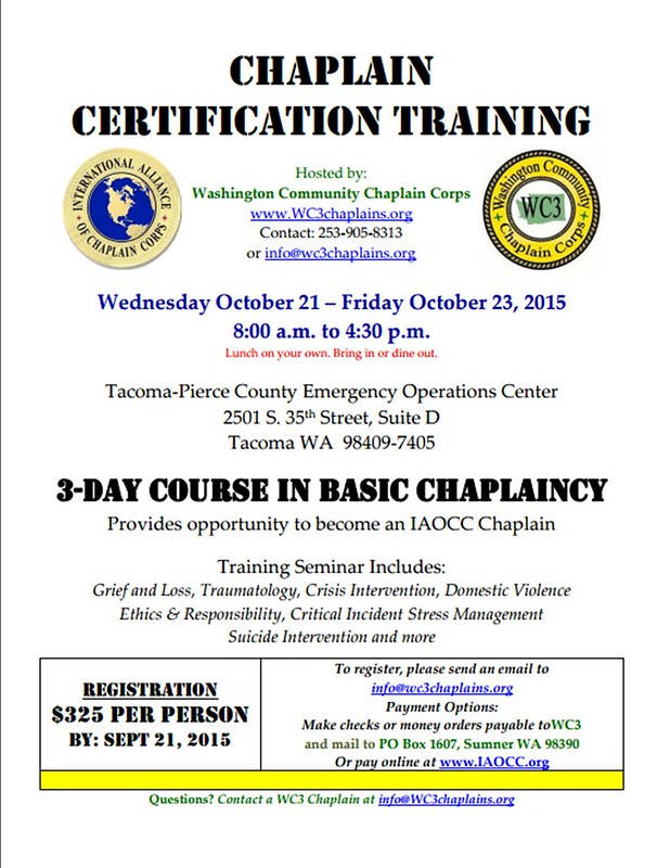 Fw Community Connections Wc3 Chaplain Trainingupcoming Events