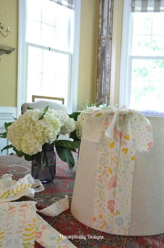 DIY No Sew Lampshade - Housepitality Designs