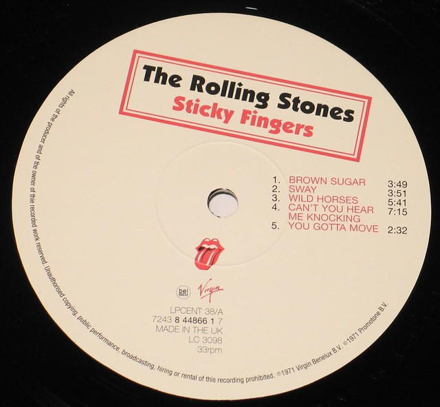 Rolling Stones - Sticky Fingers UK 190 grams vinyl