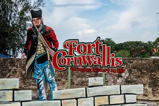 Изображение Fort Cornwallis вблизи Джорджтаун. malaysia penang fortcornwallis