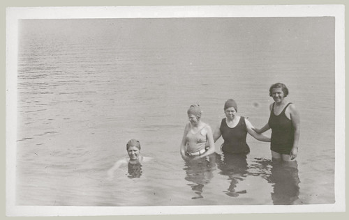 Four women in the water
