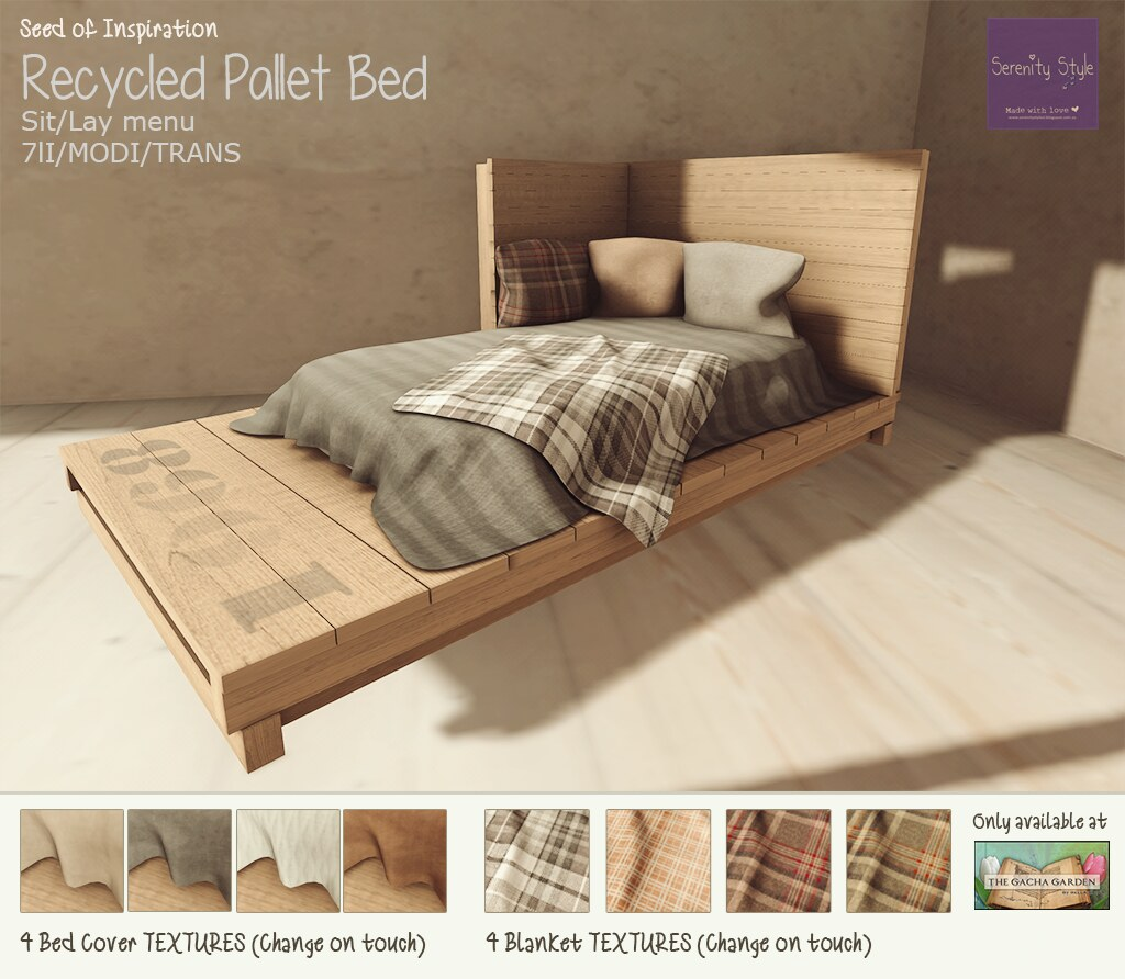 Serenity Style- Recycled Pallet Bed SOI