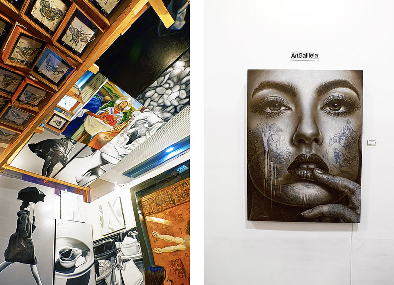 Manilart 2015 Left: Sculpture from Mendez Big and Small Gallery; Right: Painting from Art Galileia