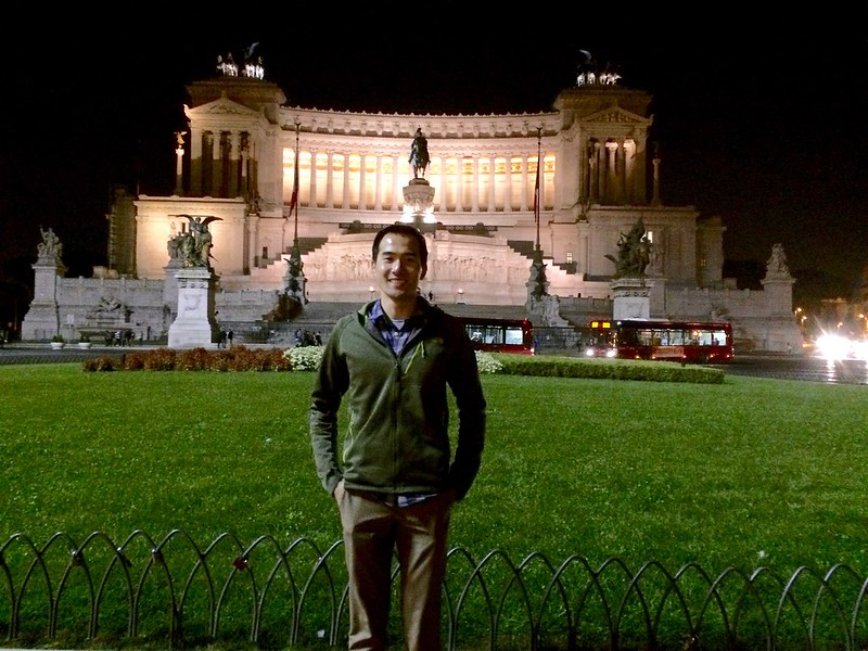 In front of Alter of the Fatherland.