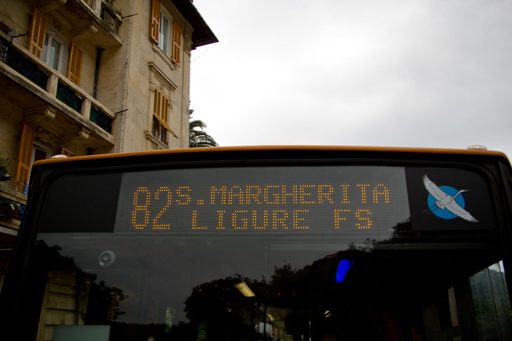 Public bus to Portofino