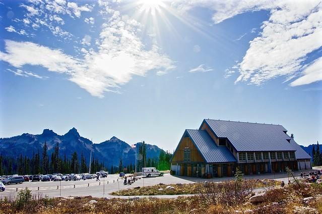 Mount Rainier parking at the top