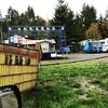 "Big Blu Van (""why yes it is!)  #bigbluevan #olywa #steamboatisland #pnwlife @bigbluevanmusic"