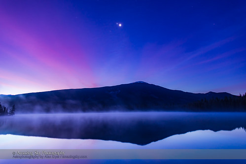 Planet Conjunction over Lake Annette