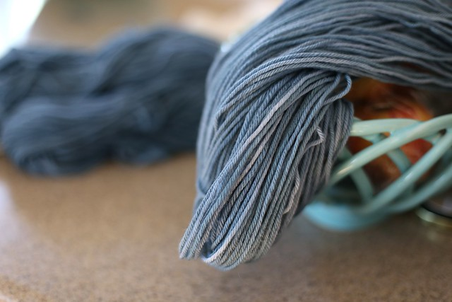 wool yarn dyed with black beans
