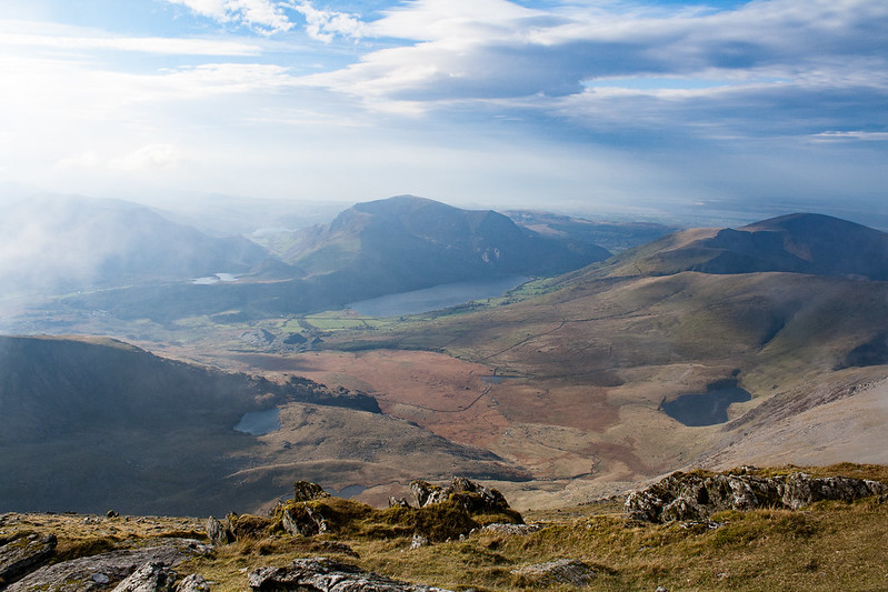 The view from the top of Mount Snowdon