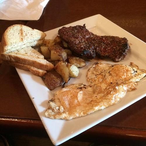 Steak and eggs #yegfood