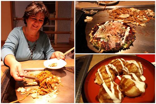Takoyaki, Yakisoba and Okonomiyaki