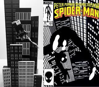 Comic Bricks: Spectacular Spider-Man #101 Comparison
