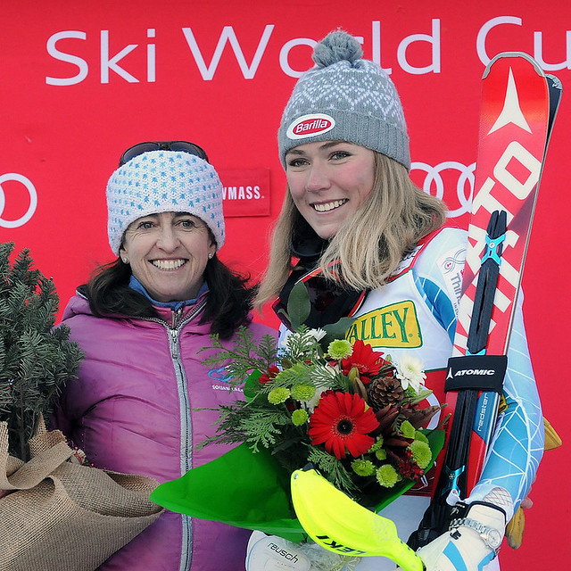 Tamara McKinney and Mikaela Shiffrin