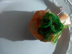 Saquitos de langostinos con verduras