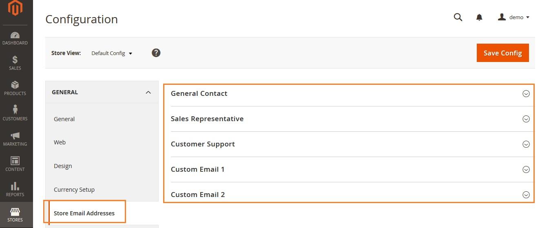 Cài đặt email trong Magento 2
