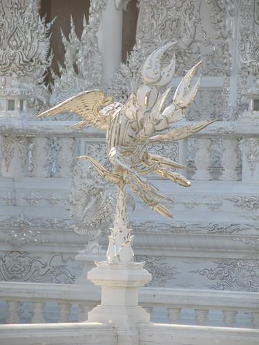 Chiang Rai: le Wat Rong Khun, le temple blanc.