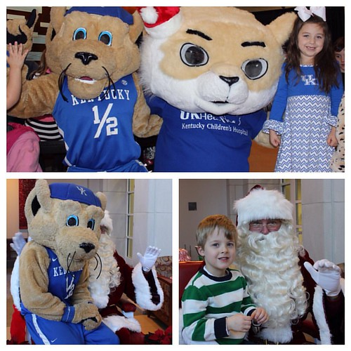 Santa, Scratch & even some UK athletes greeted families & Kentucky Children's Hospital patients this weekend at the Breakfast with Santa event hosted by UK Chandler Hospital Auxiliary. Looks like Scratch got a chance to share his wish list with Mr. Claus