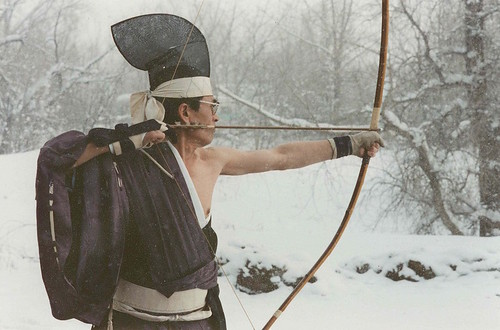 Shibata XX Sensei, lineage holder of Kyudo and 20th-generation bow-maker to the Emperor of Japan. Sensei and Trungpa Rinpoche were very close. Photo by Lee Weingrad. From Walter Fordham