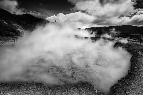 indonesia landscape volcano asia diengplateau kawahsikidang