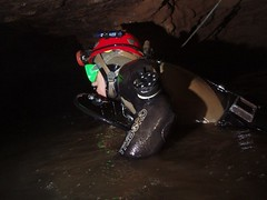 Chris entering Sump 4 Image