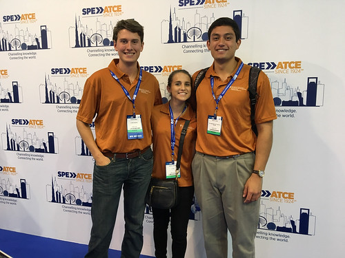 UT PGE students at SPE ATCE in Dubai