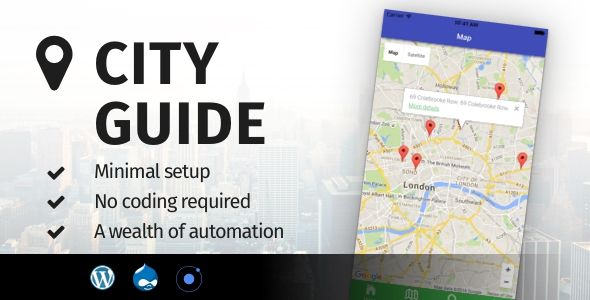 City Guide Ionic v1.0 - Full Application with Firebase backend
