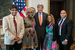 U.S. Secretary of State John Kerry honors outstanding individuals around the world who are fighting to end human trafficking at the Annual Meeting of the President's Interagency Task Force to Monitor and Combat Trafficking in Persons (PITF) at the White House in Washington, D.C., on October 24, 2016. [State Department photo/ Public Domain]