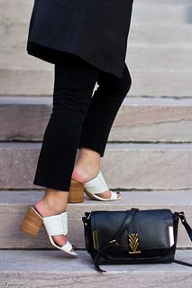 long black vest, striped shirt, white mules, black pants-6.jpg