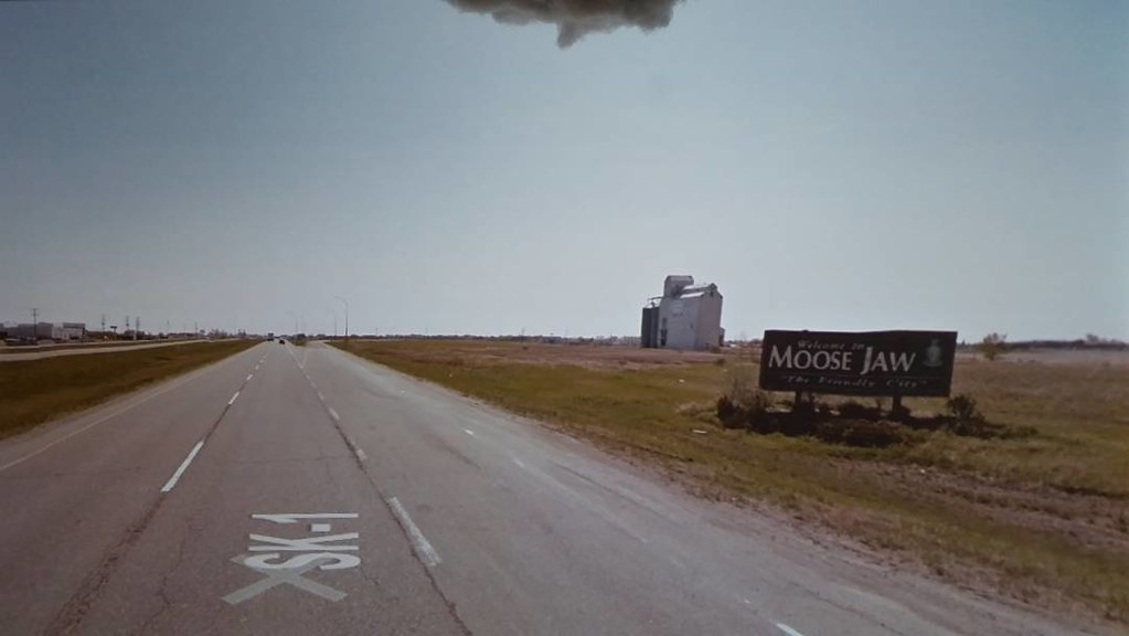 Moose Jaw - the friendly city. #ridingthroughwalls #xcanadabikeride #googlestreetview