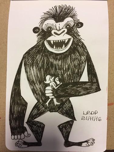 40 Inktober 2016 - King Kong