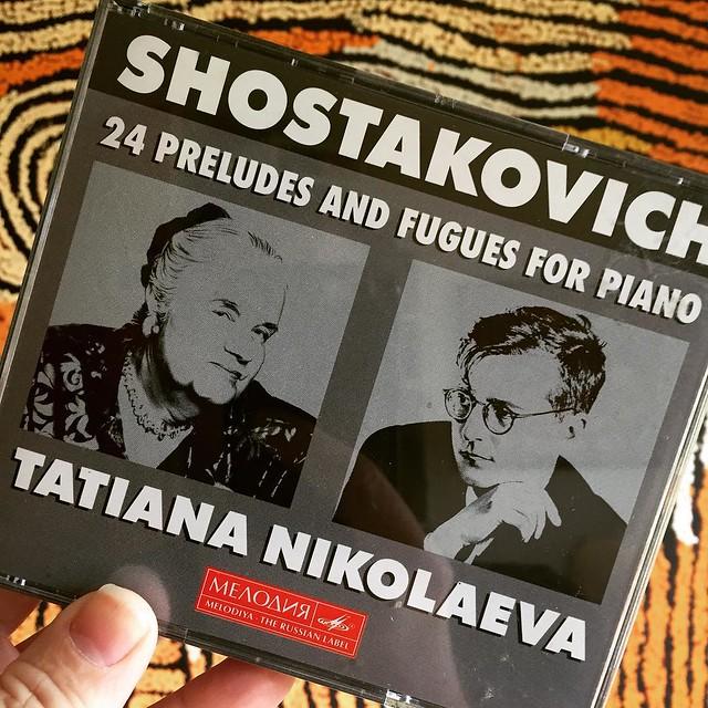 Today's classical music (double) CD. #Shostakovich #musicaljourney #Kinvara #Ireland