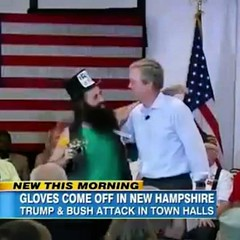 #Jeb and I at Town Hall in Merrimack last night. (Photo by ABC news).