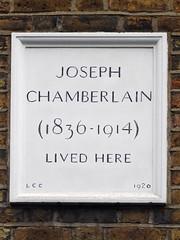 Photo of Joseph Chamberlain stone plaque