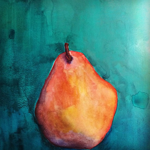 Pear #pears #painting #watercolors #sketches #watercolorsketch #paintsketch #art