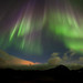 Storm, clouds, light pollution.... and northern lights tonight by *Jonina*