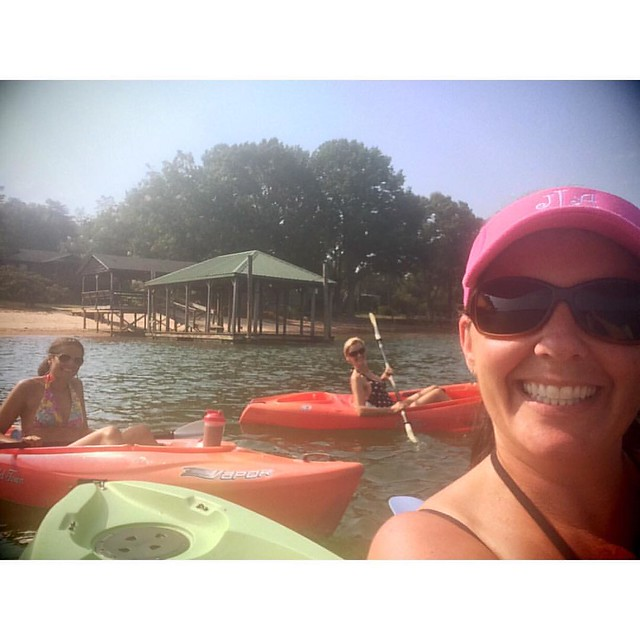 A day at the lake is worth a month in town. #lakelife #lakegirls #kayak #paddle
