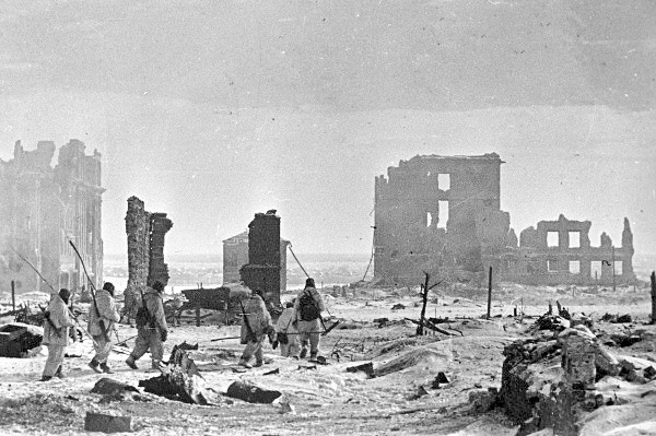 The center of the city of Stalingrad after liberation from the German occupation