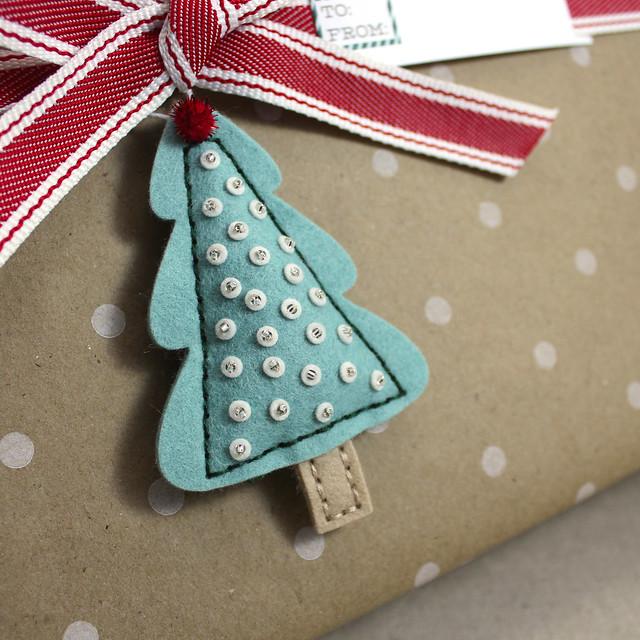 Flat Tree Ornament Close Up