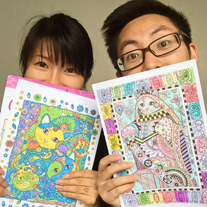 11 Beautiful Adult Coloring Books + Coloring Date Night!