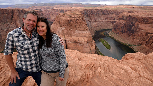 J.D. and Kim and Horseshoe Bend