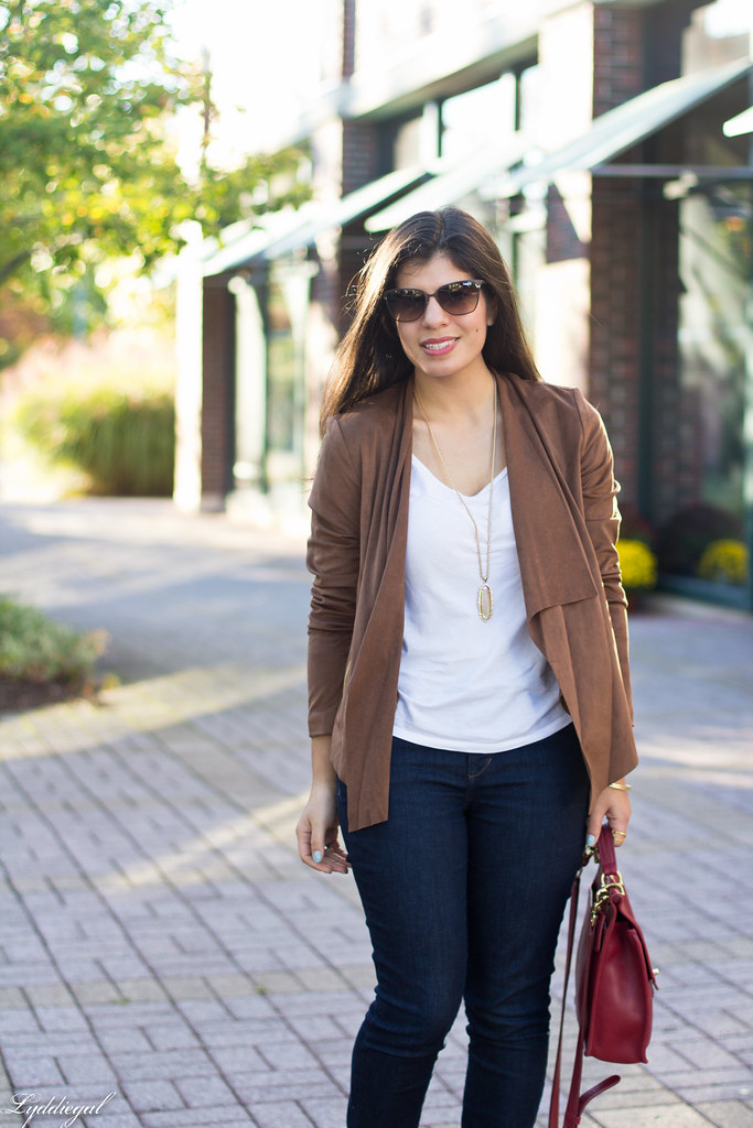 brown suede jacket, white tee, denim, leopard pumps-3.jpg