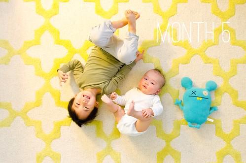 Oliver & Elliot - Month 5